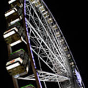 Ferris Wheel At Night 16x20 Art Print