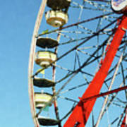 Ferris Wheel Closeup Art Print