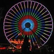 Ferris Wheel In Wildwood New Jersey Art Print