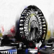 Ferris Wheel Tower Art Print