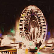 Ferris Wheels Tower 536 2 Art Print