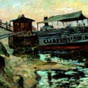 Ferry Boat Art Print