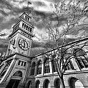Ferry Building Black  White Art Print