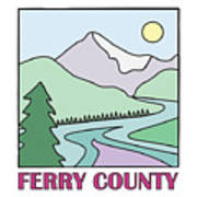 Ferry County II Print by Sarah Lawrence
