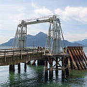 Ferry Dock And Pier At Porteau Cove Art Print