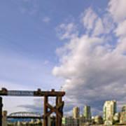 Ferry Dock At Granville Island In British Columbia Art Print