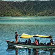 Ferry - Lago De Coatepeque - El Salvador I Art Print