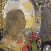Fertility. Woman In Flowers Art Print