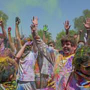 Festival Of Color Art Print