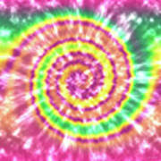 Festival Spiral Bright Colors- Art By Linda Woods Art Print
