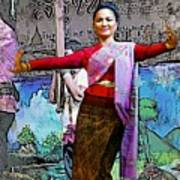 Festive Folk Dance Art Print