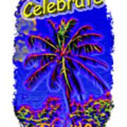 Festive Palm Art Print