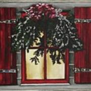 Festive Window Art Print