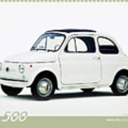 Fiat 500 Art Print