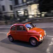 Fiat 500, Italy Art Print