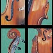Fiddle Quartet Art Print