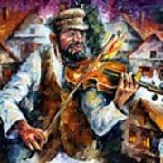 Fiddler From The Sky Art Print