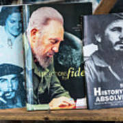 Fidel At The Used Book Sellers Market Art Print