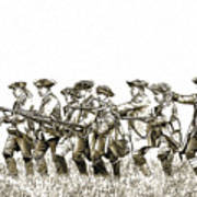 Field Of Battle Soldier Sketch Art Print