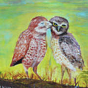 Field Owls  Art Print