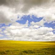 Field With Dramatic Sky. Art Print