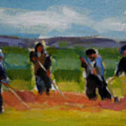 Field Workers In Watsonville - Study Art Print