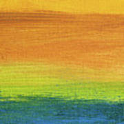 Fields Of Gold 1 - Abstract Summer Landscape Painting Art Print