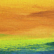 Fields Of Gold 2 - Abstract Summer Landscape Painting Art Print