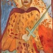 Fiery King Of Swords Art Print