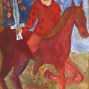 Fiery Knight Of Swords Art Print
