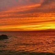 Fiery Makena Sunset Art Print