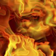 Fiery Mist Art Print