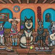 Fiesta Dogs Art Print