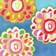 Fiesta Floral 3- Art by Linda Woods Art Print
