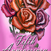 Fifth Anniversary Art Print