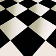 Fifties Kitchen Checkerboard Floor Art Print