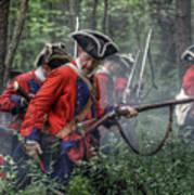 Fight In The Forest Bushy Run 1763 Art Print