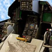 Fighter Jet Cockpit 01 Art Print