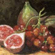 Figs And Grapes Art Print