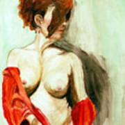 Figure In Red Art Print