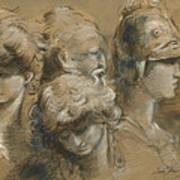 Figures drawing Art Print