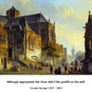 Figures On A Market Square In A Dutch Town 1843 Art Print