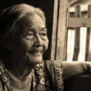 Filipino Lola - Image 14 Sepia Art Print