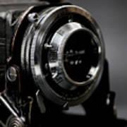 Film Camera In Black Art Print