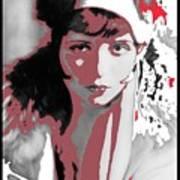 Film Homage Collage Eugene Robert Richee Photo Clara Bow 1 Circa 1927-2013 Art Print