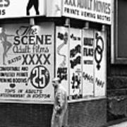 Film Homage Hard Core 1979 Porn Theater The Combat Zone Boston Massachusetts 197 Art Print