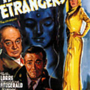 Film Noir Poster Three Strangers Art Print