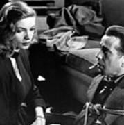 Film Noir Publicity Photo #2 Bogart And Bacall The Big Sleep 1945-46 Art Print