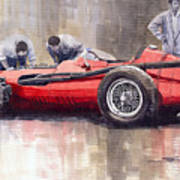 Final Check Before The Start Maserati 250 F 1957 Art Print