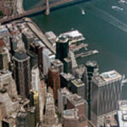 Financial District Nyc Aerial Photo Art Print